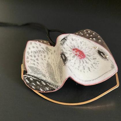 Reversible enamel pendant on adjustable cord