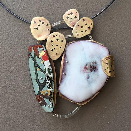 Enamel brooch/pendant