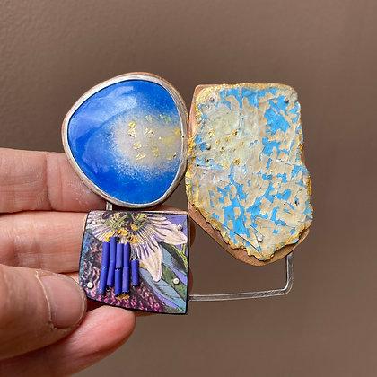 Mixed media brooch/pendant