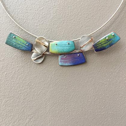 Versatile enamel pendant, vertical or horizontal