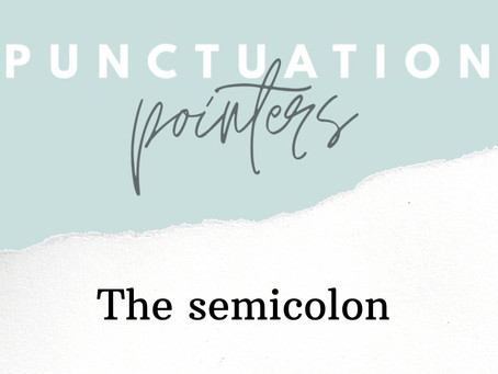 Stumped by semicolons?