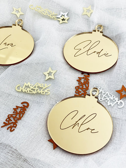 Engraved Christmas Bauble