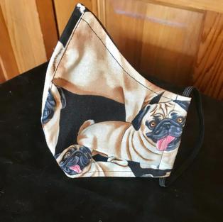 P 16 - Happy Pugs Med-Petite, Large $18.00