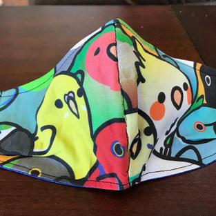 #2-6 parrot heads med, lrg, $18.00