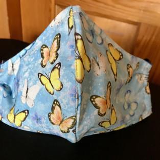 N- 7 Butterflies on blue- sml, medium-petite,lrg $15.00