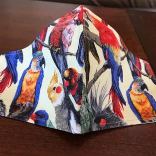 #2-8 Parrots Everywhere- sml, med, lrg, $18