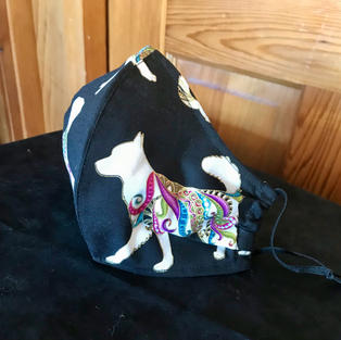 P- 13 Small Paisley Dogs Med-Petitie, Large $18.00