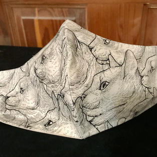 P- 9 Sketched Cats Faces petite, med, lrg $15.00