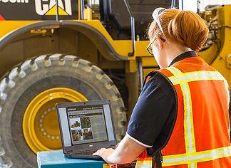 Caterpillar mining equipment operator at work