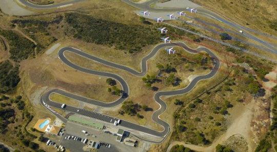 Vue aerienne du Circuit Prestige Karting
