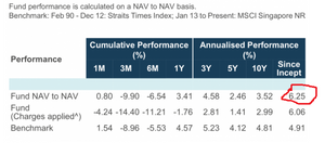 Averaged annualised return