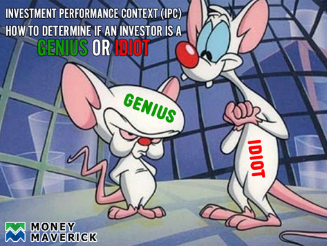 Investment Context: Defining a Genius and an Idiot