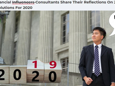 Singapore Financial Consultants Share Their Reflections on 2019 and... Eh, you get it.