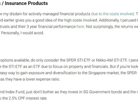 My Guide to the CPF Investment Scheme [CPFIS]
