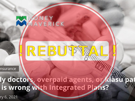 Greedy Doctors, Overpaid Agents, or Kiasu Patients? What is Wrong with Integrated Plans? - Rebuttal