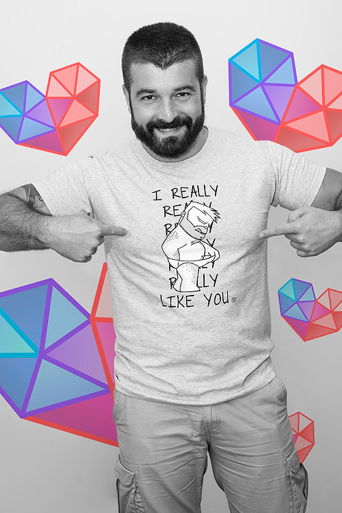 MÍO Camiseta Gris I REALLY LIKE YOU