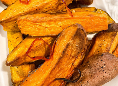 Vanilla Roasted Sweet Potatoes