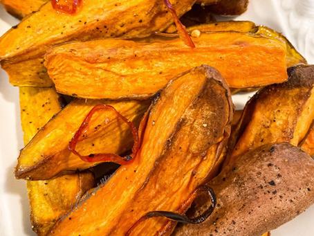 Vanilla Roasted Sweet Potatoes