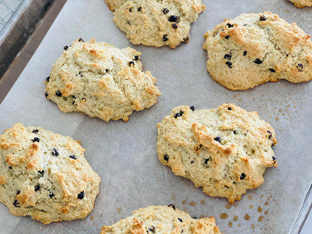 Low-Carb/Keto Blueberry Scones