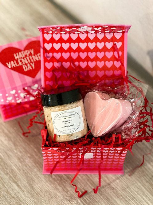 Valentine's Day Mini Box -Lip Scrub & Soap