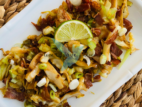 Pan Fried Cabbage & Prosciutto