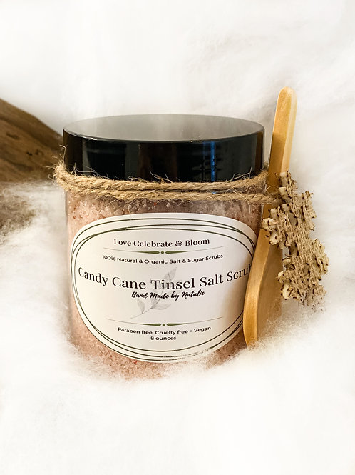 Candy Cane Tinsel Salt Scrub