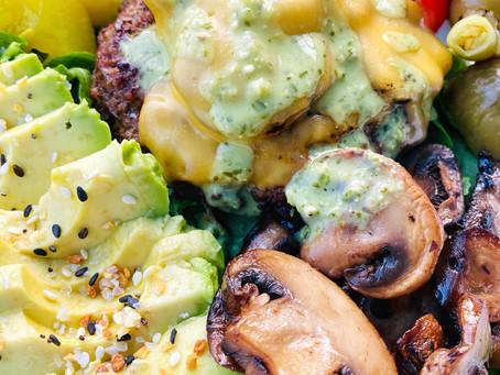 Garlic & Mushroom Stuffed Burgers