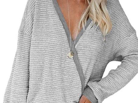 Women's V Neck Wrap Sweater