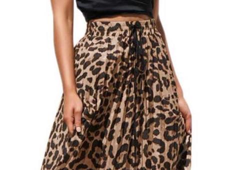 Womens Maxi Leopard Print Skirt