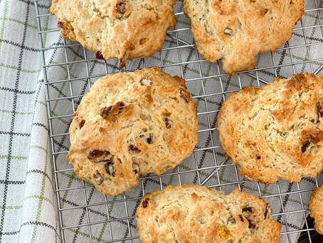 Cranberry & Orange Drop Biscuits