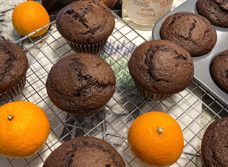 "Orange Chocolate Vanilla Muffins with Dark Chocolate Chunks ""Tangerine Style"""
