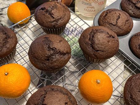 """Orange Chocolate Vanilla Muffins with Dark Chocolate Chunks """"Tangerine Style"""""""