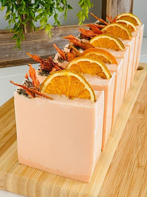 The Honeysuckle Papaya Citrus Basil Bath Bar