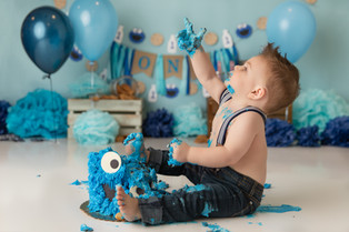 NJ Cake Smash Photographer  | Cookie monster cake smash