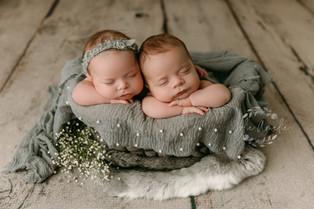 New Jersey Newborn Photographer   Twins newborn session.