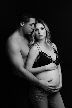 NJ studio maternity session
