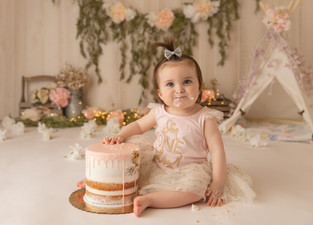 Cake Smash Photographer Bergen County NJ  | Bohemian Princess