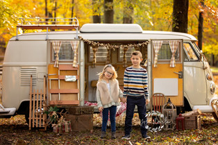 Family Photographer New Jersey Bergen County  | Vintage VW Bus Holiday sessions!