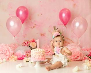 Cake Smash Photographer Bergen County NJ  | Ariana is 1!