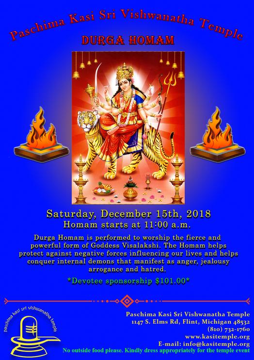 Durga Homam on Dec 15,2018