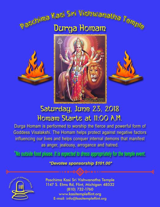 Durga Homam on 23rd June, 2018