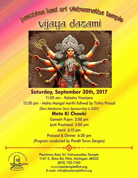 Vijaya Dasami Saturday September 30th