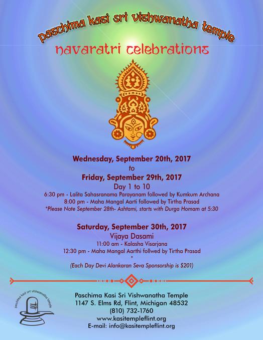 Devi Navaratri Begins Wednesday September 20th