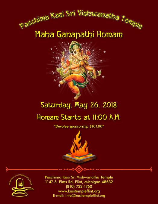 Ganapathi Homam on 26th May