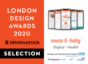 29th June 2020 | Imagineear's Mum & Baby app shortlisted in the London Design Awards 2020