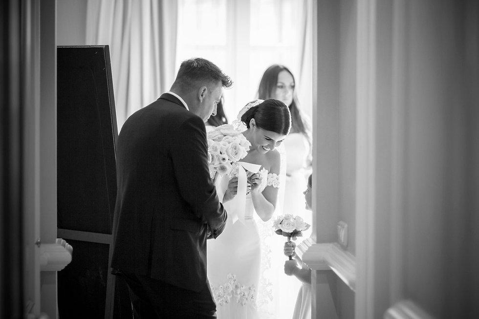 wedding bride and flower girl photo
