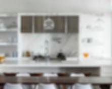 Clean Kitchen Design Marble Backsplash contemporary