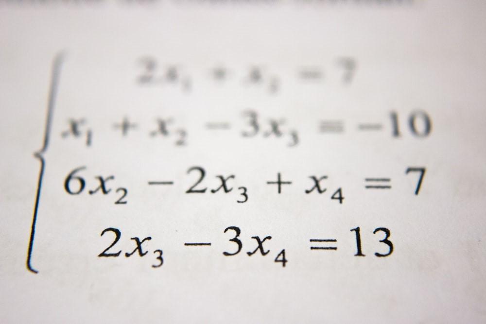 An algebraic equation