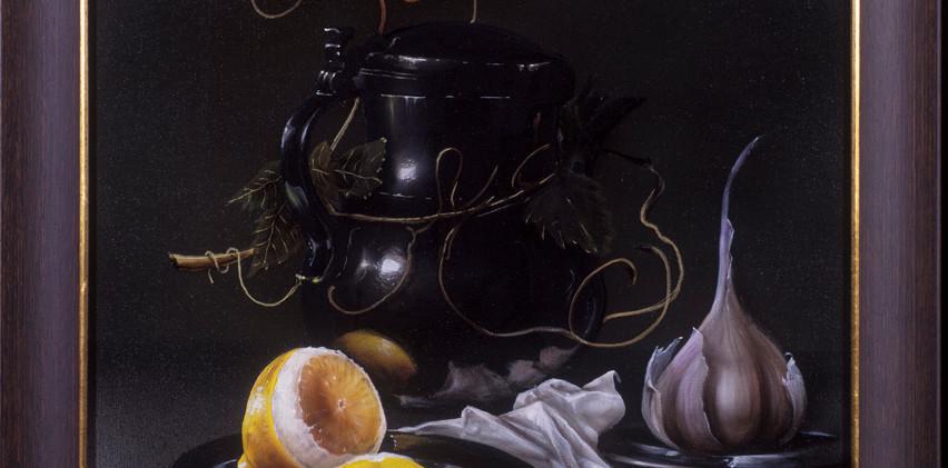Lemon, Garlic and Wine Flagon