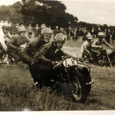 Grass Sidecar racing in Essex